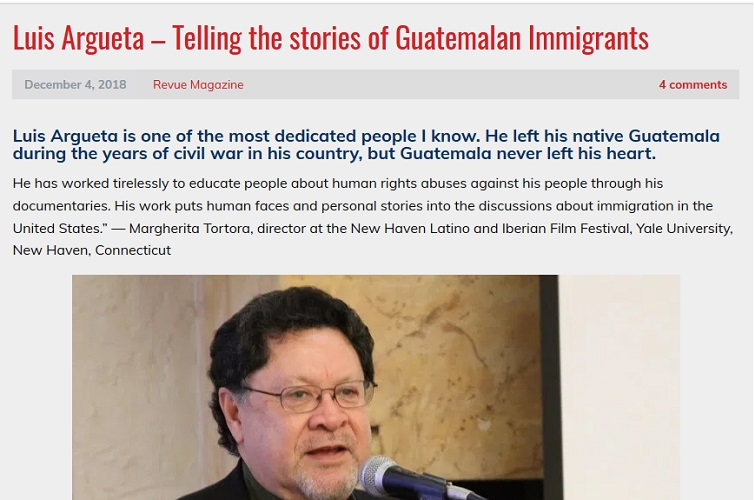 Luis Argueta: Telling Stories of Guatemala Immigrants